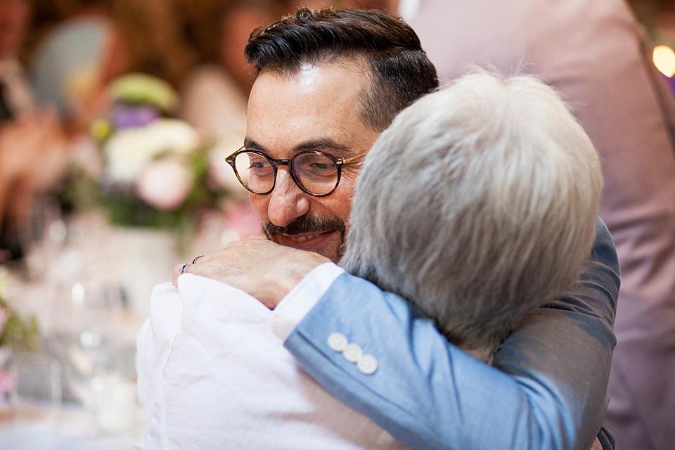 165 Groom hugging mum emotional