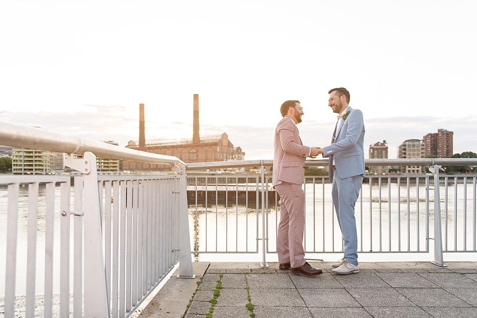 176 Two grooms wedding portrait London