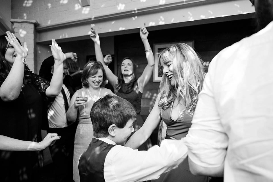 181 Mum and son dancing London wedding