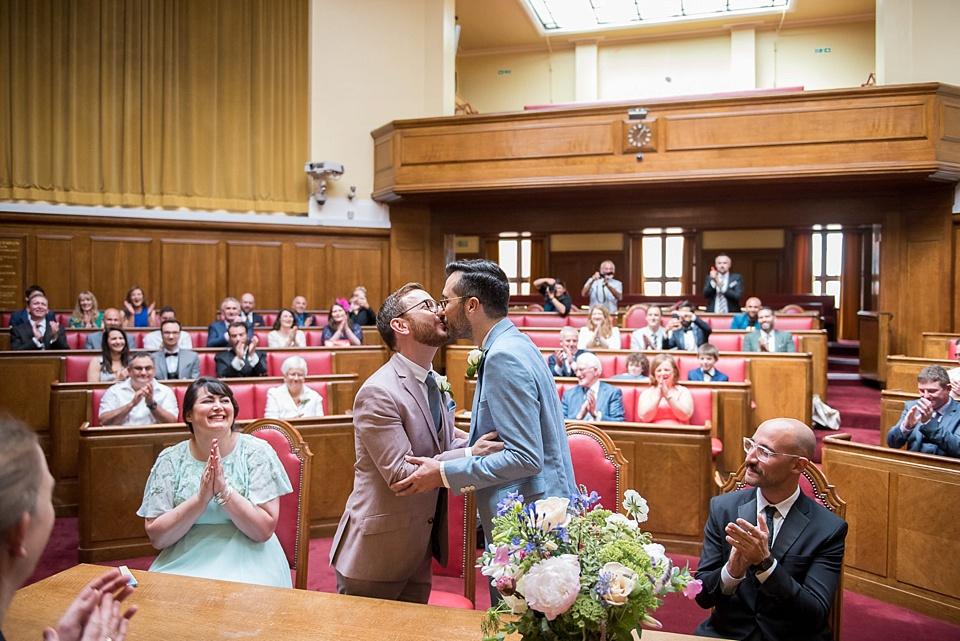19 First kiss same sex wedding