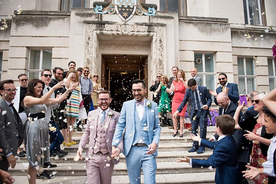 36 Same sex wedding London confetti
