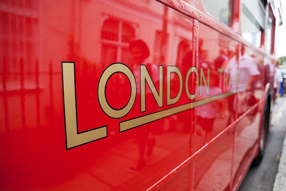 48 London red double decker bus
