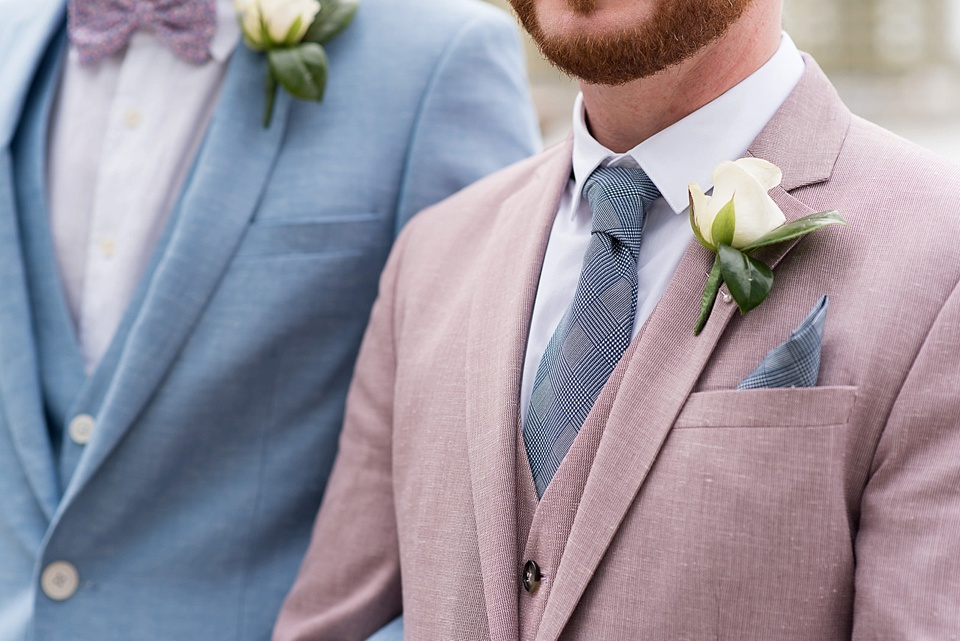 53 Pink and blue groom suits