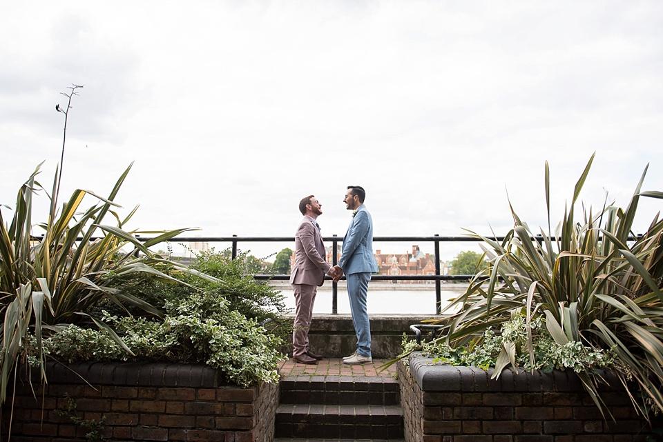 54 Gay Battersea London wedding photographer