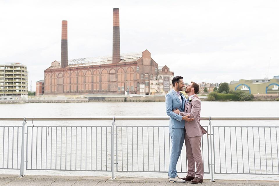 62 Battersea same sex wedding portrait