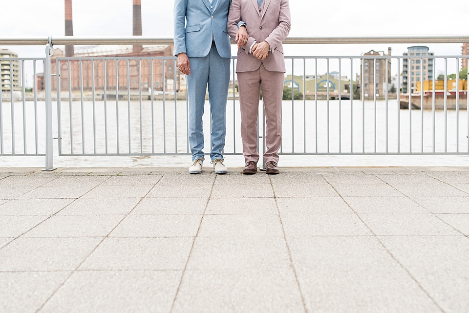 69 Pink and blue suits for two grooms