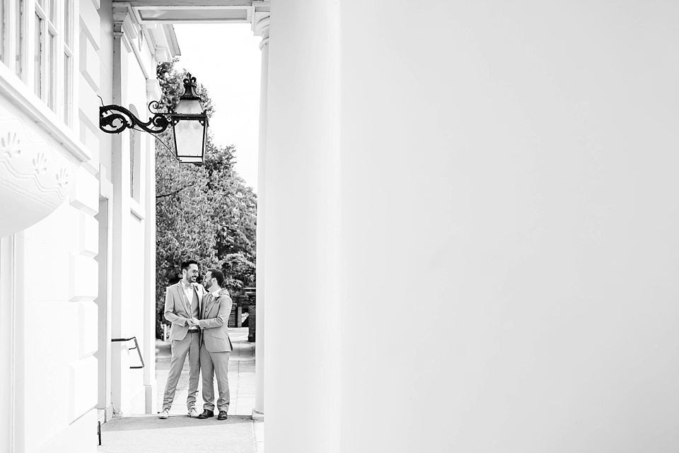 71 same sex London wedding portrait