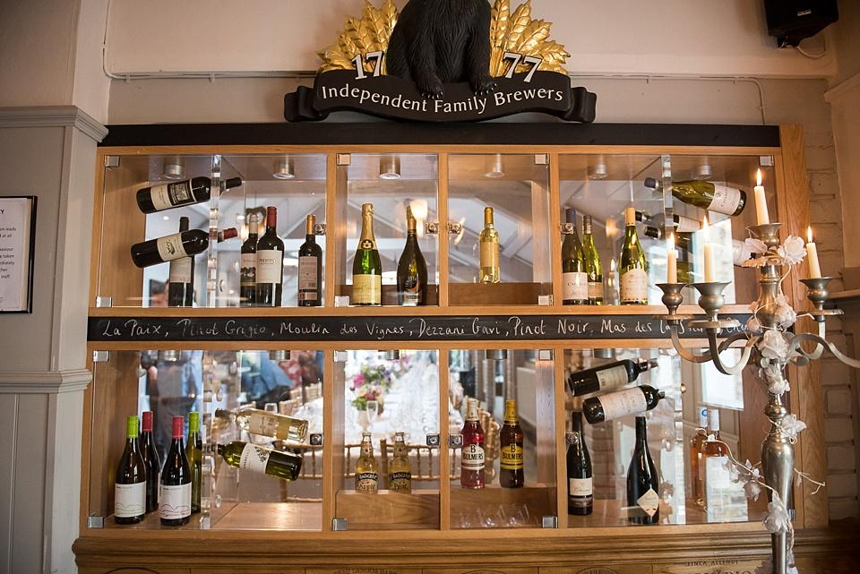 95 Woodman pub wine selection