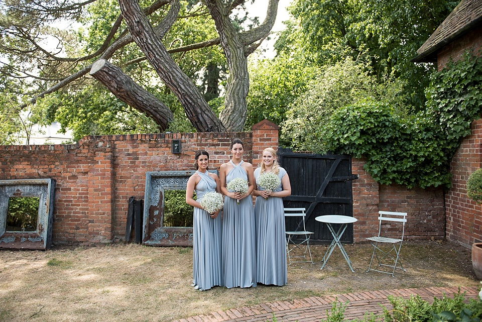 Two Birds grey maxi dress bridesmaids