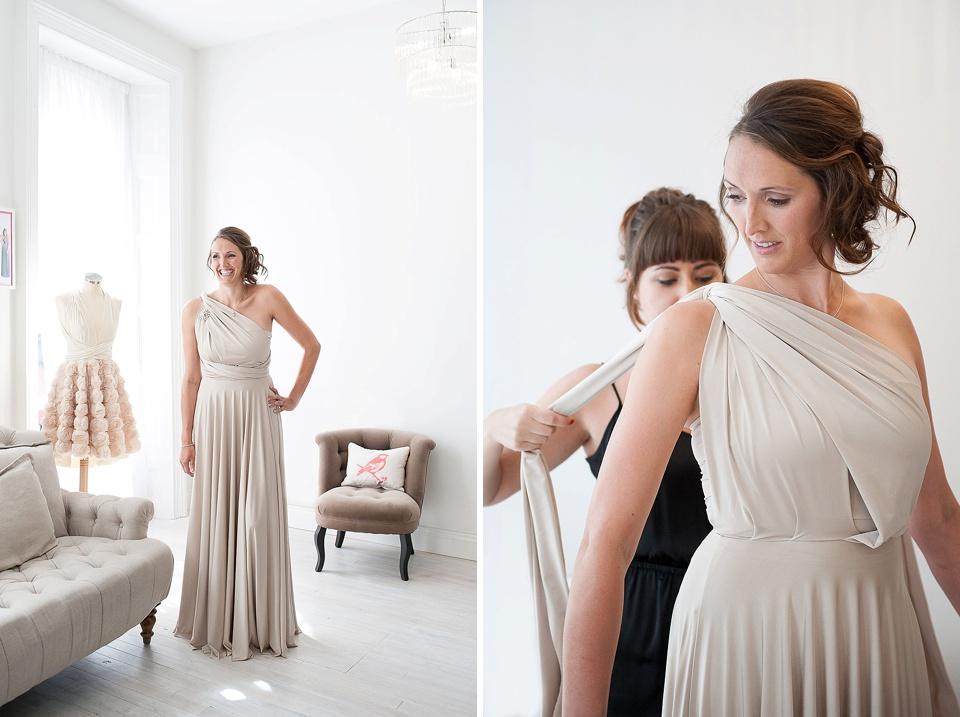 One shoulder bridesmaid dress Two Birds