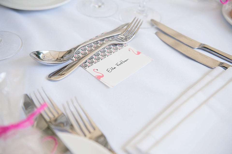 Flamingo placenames Kensington wedding