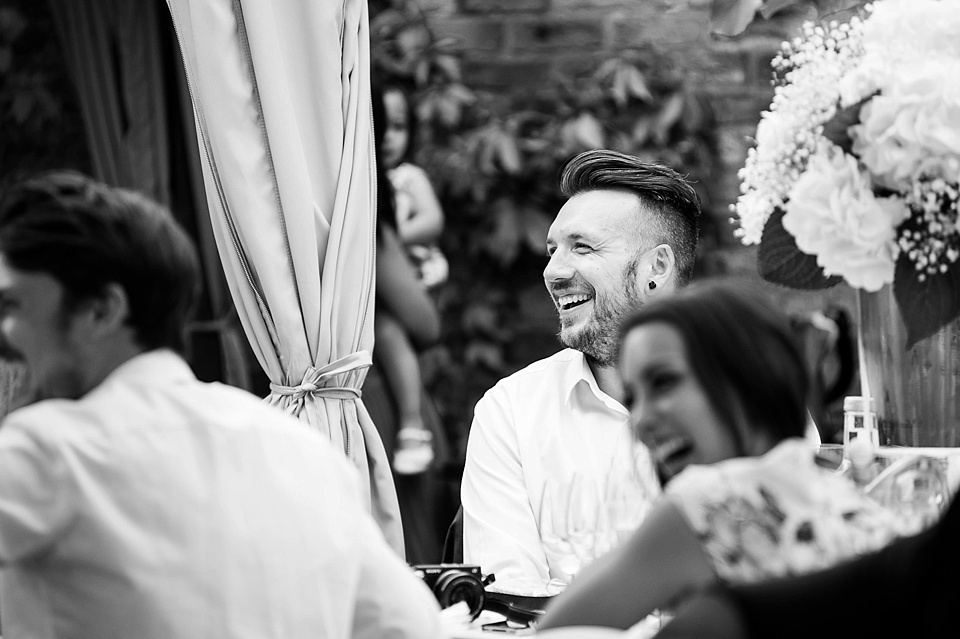 Fun and laughter at wedding speeches