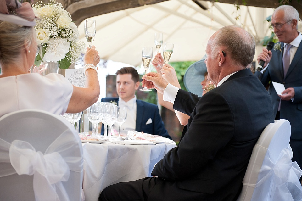 Champagne toast during speeches