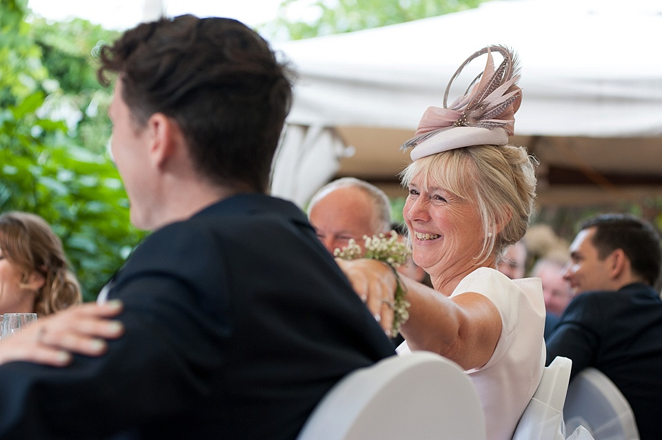 Proud Mother at London wedding