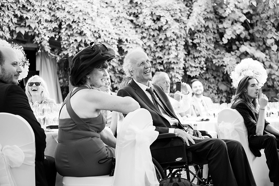 Laughter during speeches London
