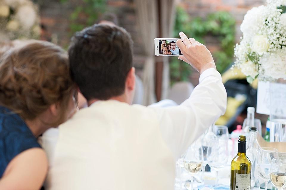 Selfies at Kensington London wedding