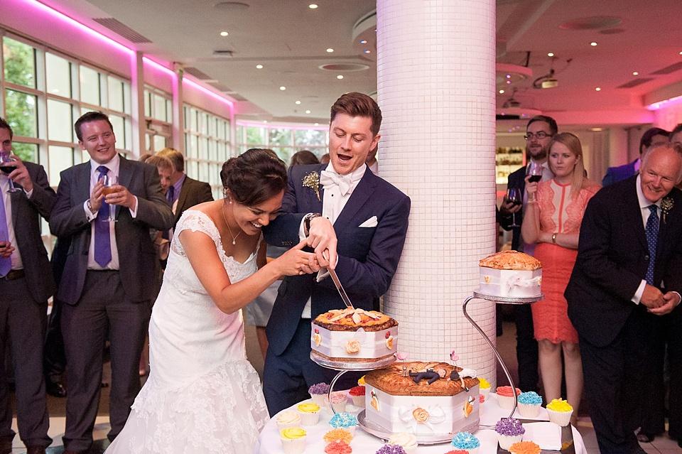 Ginger Pig wedding cake London wedding