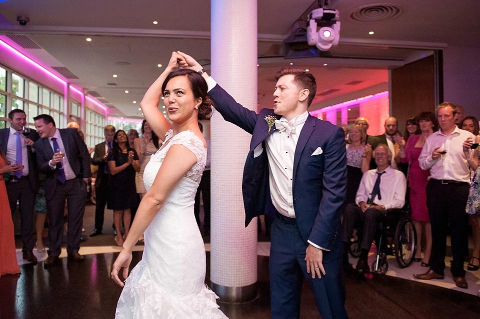 Fun first dance London wedding