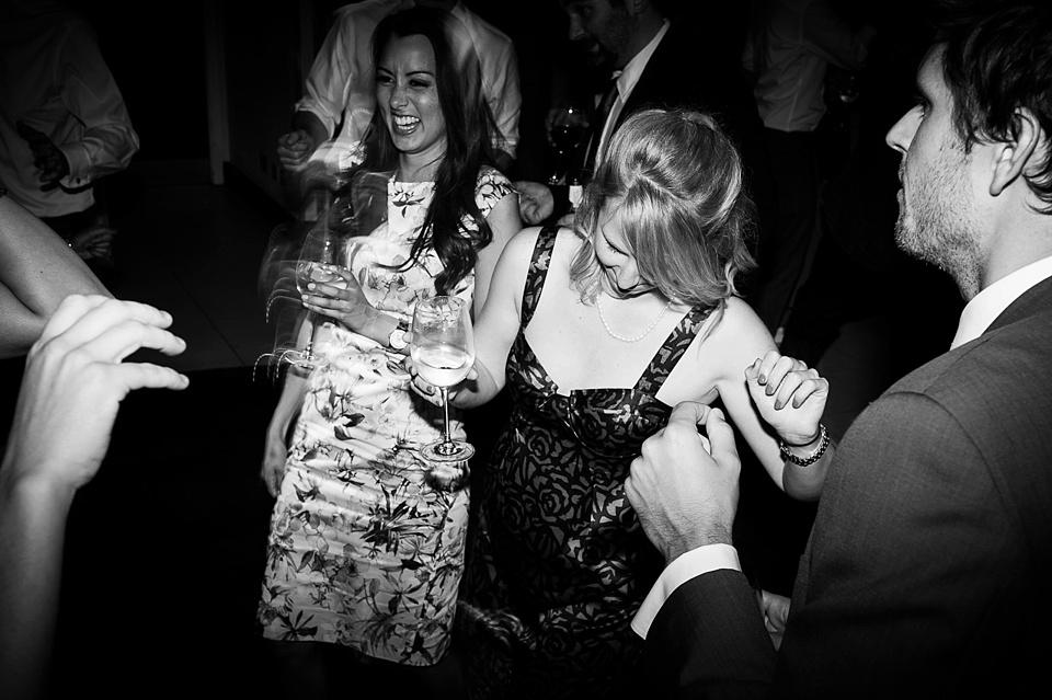 Women dancing at London wedding