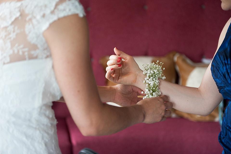 Gysophia corsages for bridesmaids