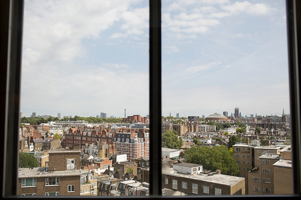 View over London rooftops Kensington