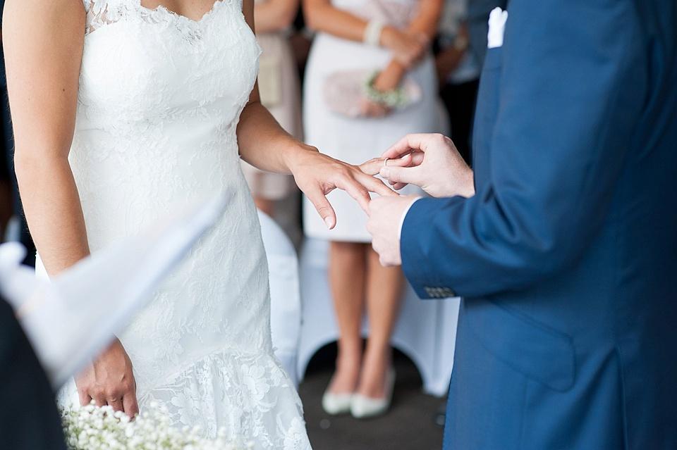 Kensington wedding ceremony portrait
