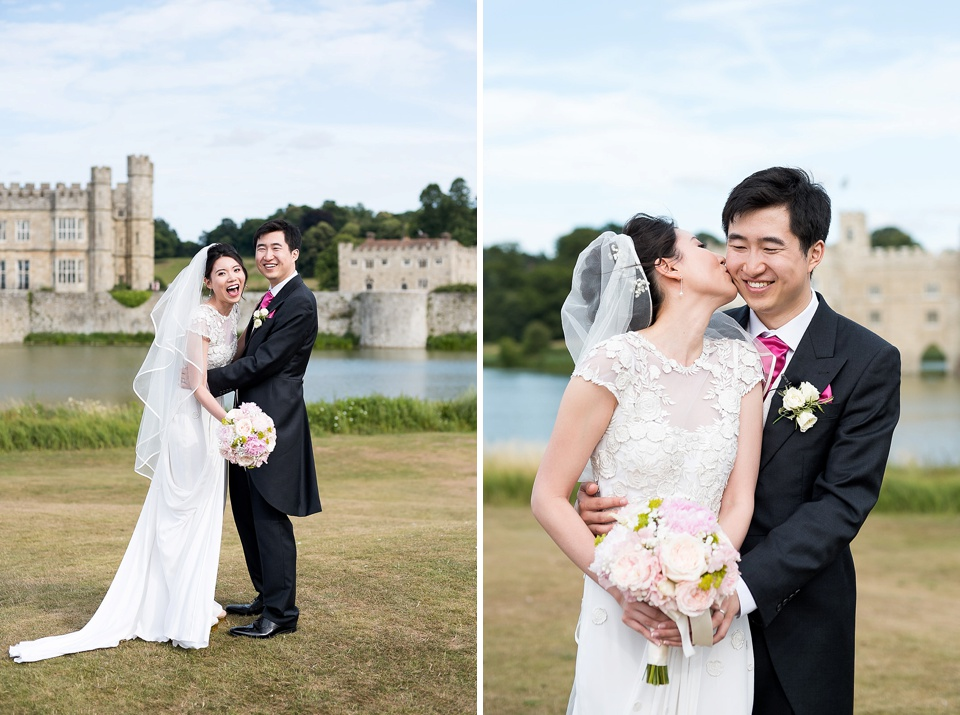 Fun wedding portrait Kent photographer