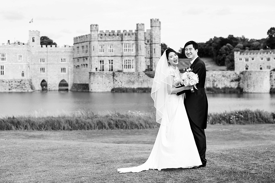 Black and white wedding portrait Kent
