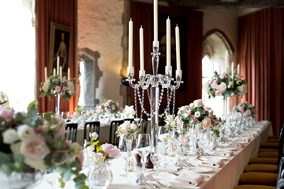 Elegant table setting with candlelabra