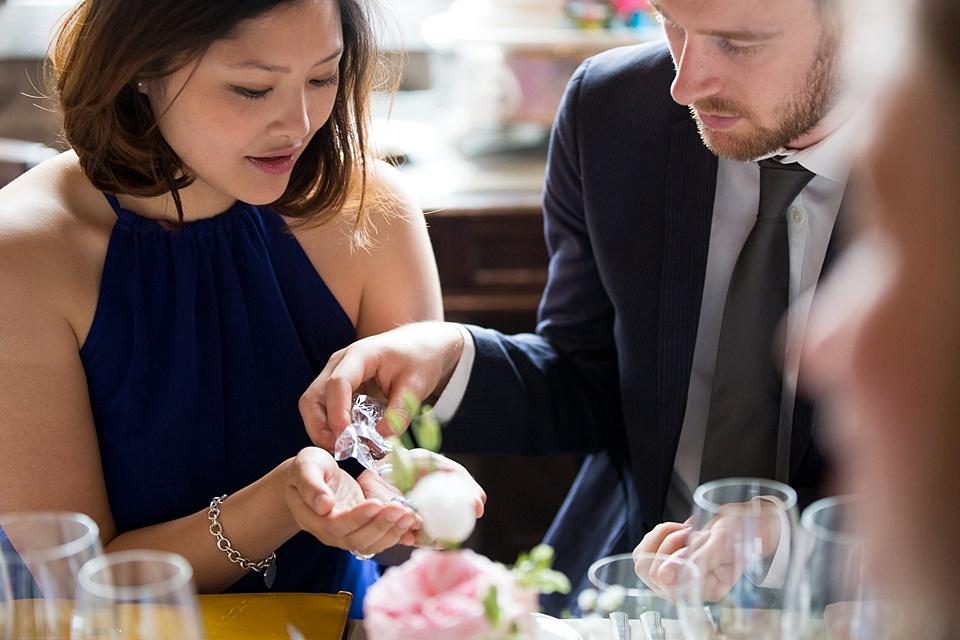 Wedding favours elegant Kent wedding