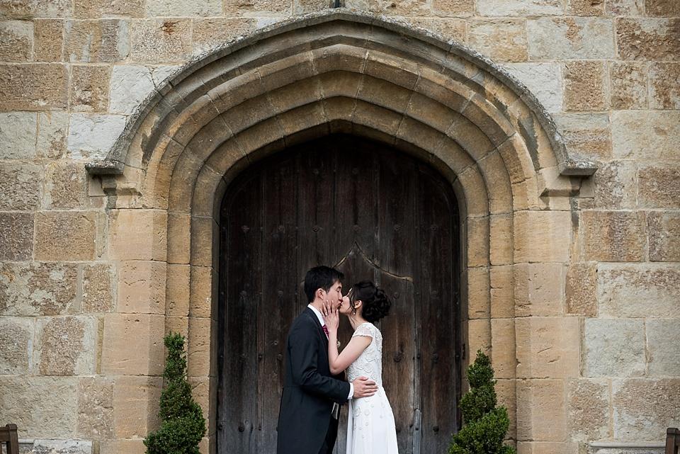 Romantic Leeds Castle wedding portrait
