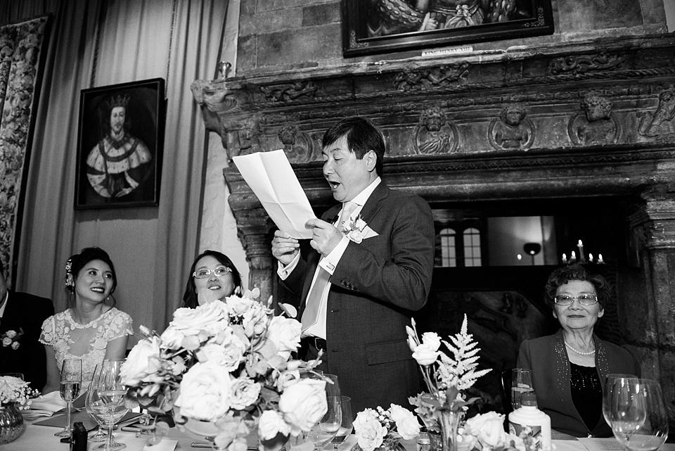 Leeds Castle wedding speeches