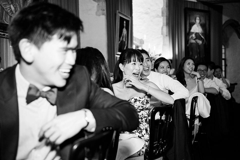 Capturing wedding guest reactions Kent