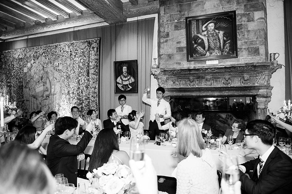Champagne toast Leeds Castle Kent