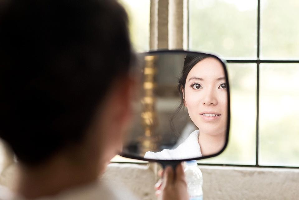Capturing moments bridal reflection