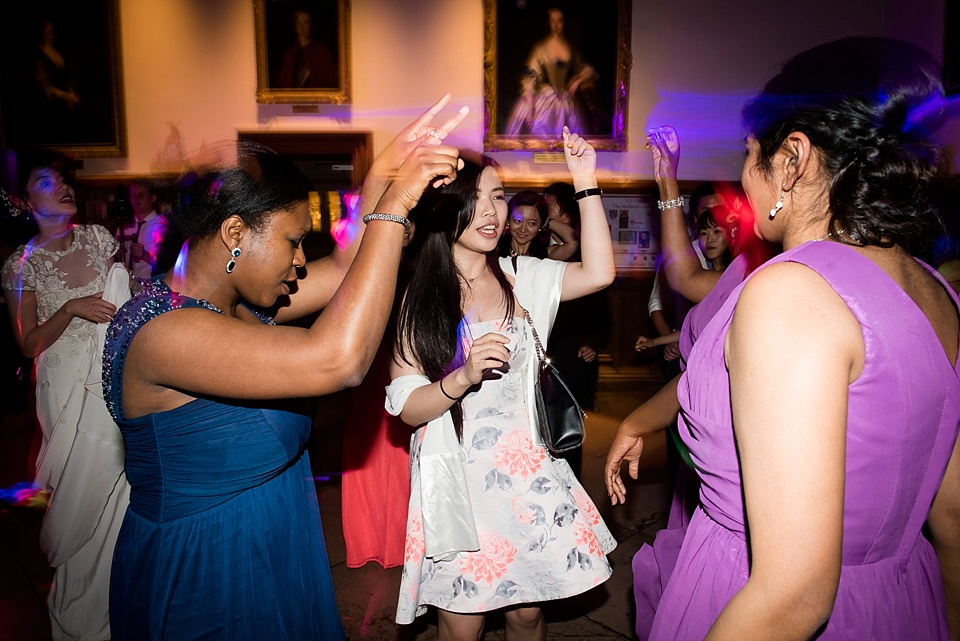 Girls on dancefloor Kent wedding