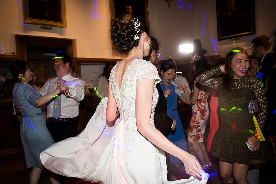 Temperley bride dancing Kent wedding