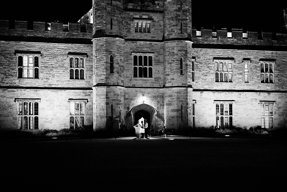 Dramatic Leeds Castle lit up at night