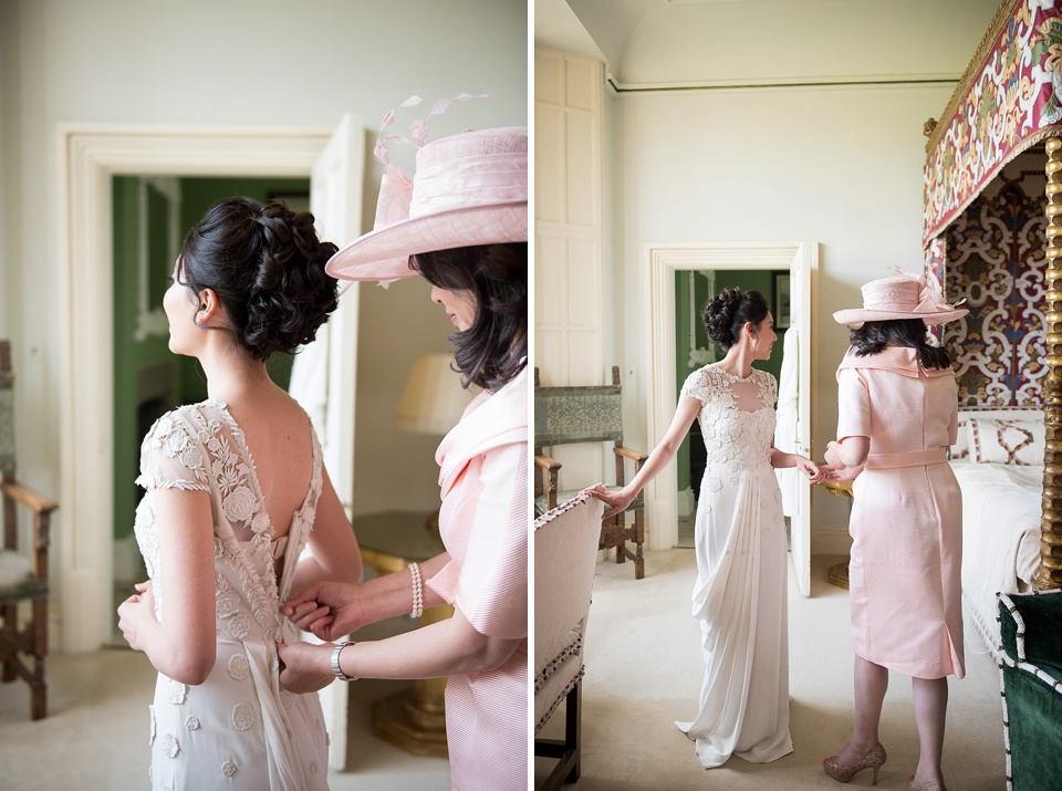 Temperley Bridal bride with pink mother