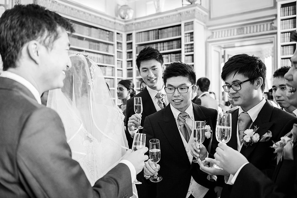 Champagne wedding reception Leeds Castle