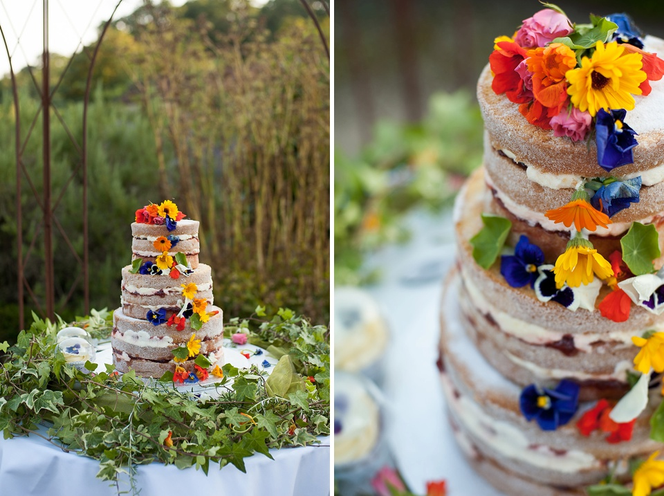 Bright primary colours wedding cake - fiona kelly photography