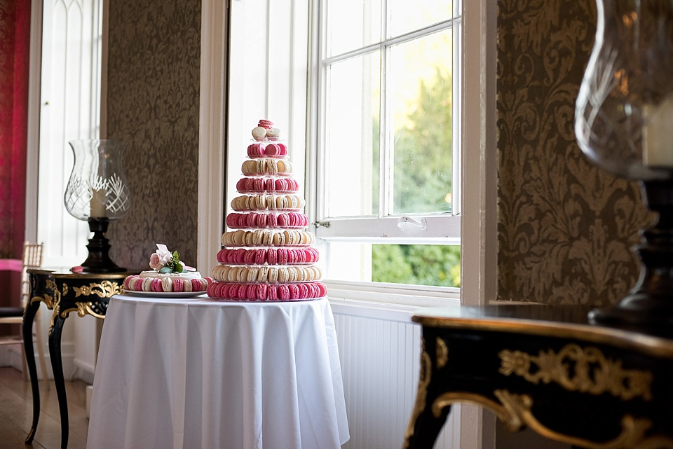 tower of macarons for wedding cake - fiona kelly photography
