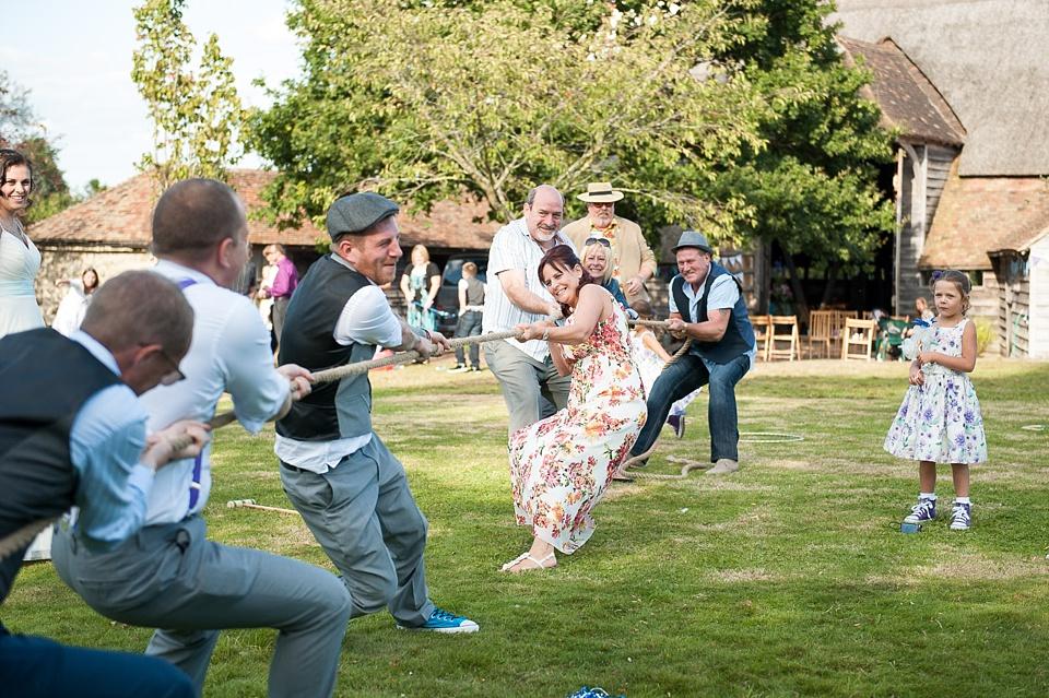 163 Fun tug of war game Kent wedding