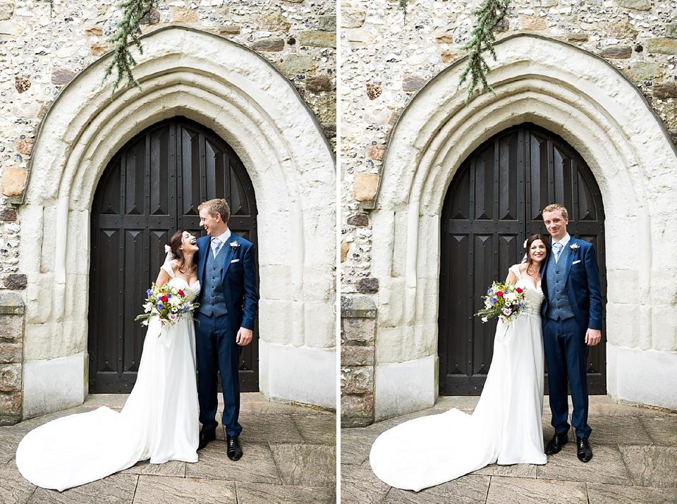 Surrey church wedding portrait