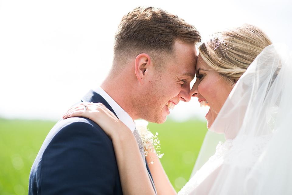 Fun natural wedding portrait Essex wedding photography
