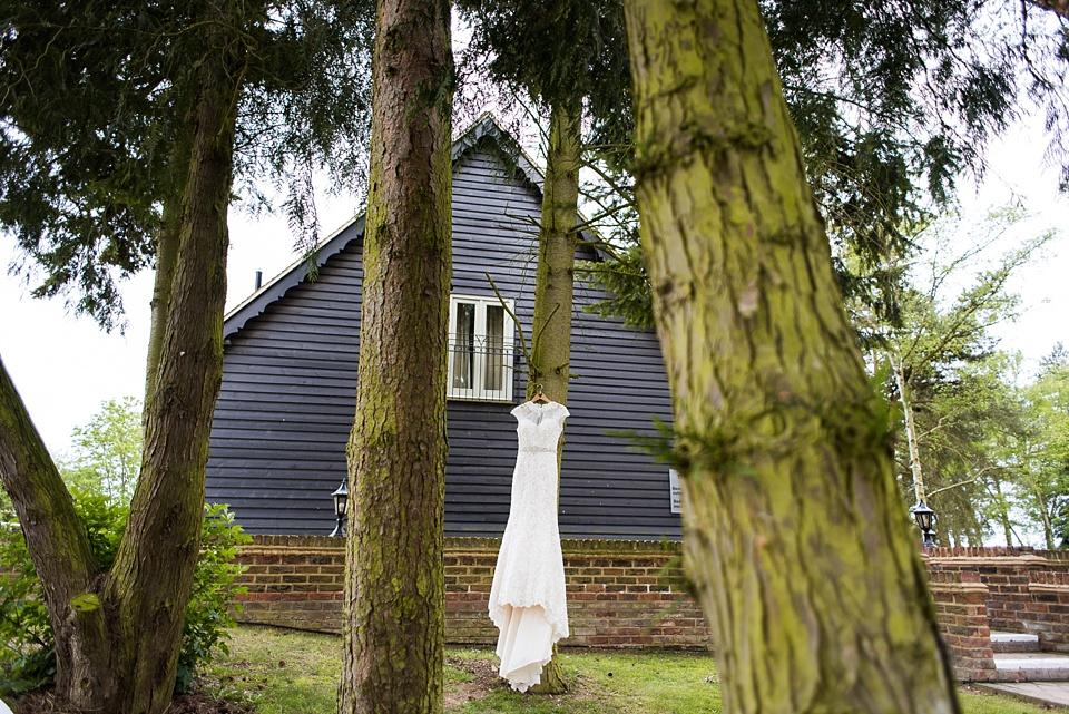 Ronald Joyce bridal dress outside pre-wedding morning photography Essex