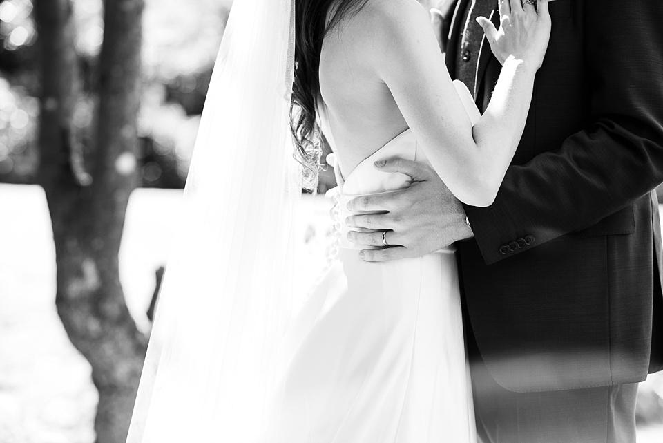 Intimate wedding portrait Surrey