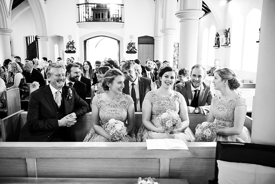 Natural wedding photography Fetcham Park church ceremony