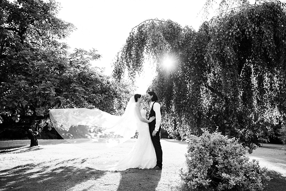 Creative wedding portrait photography Leez Priory wedding