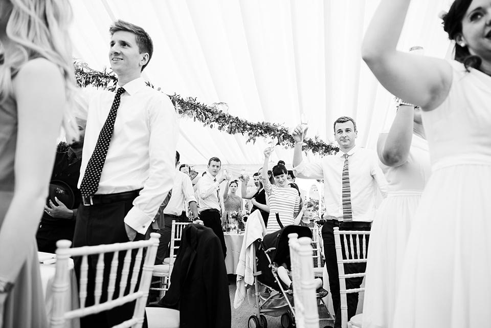 Champagne toast Busbride Lake wedding Surrey